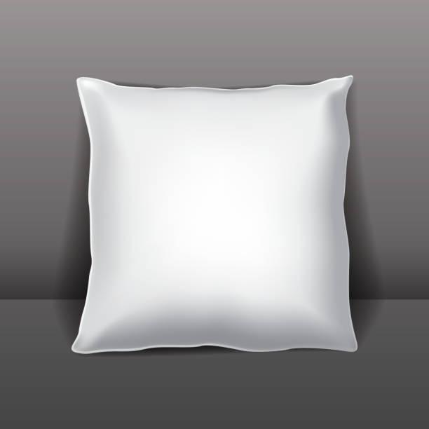 vektor weißen kissen oder verpackung - stapelbett stock-grafiken, -clipart, -cartoons und -symbole