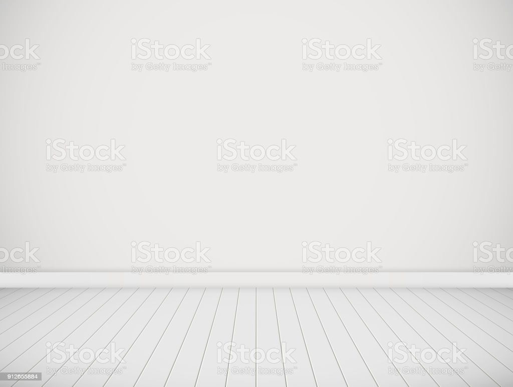 Vector white room. vector art illustration