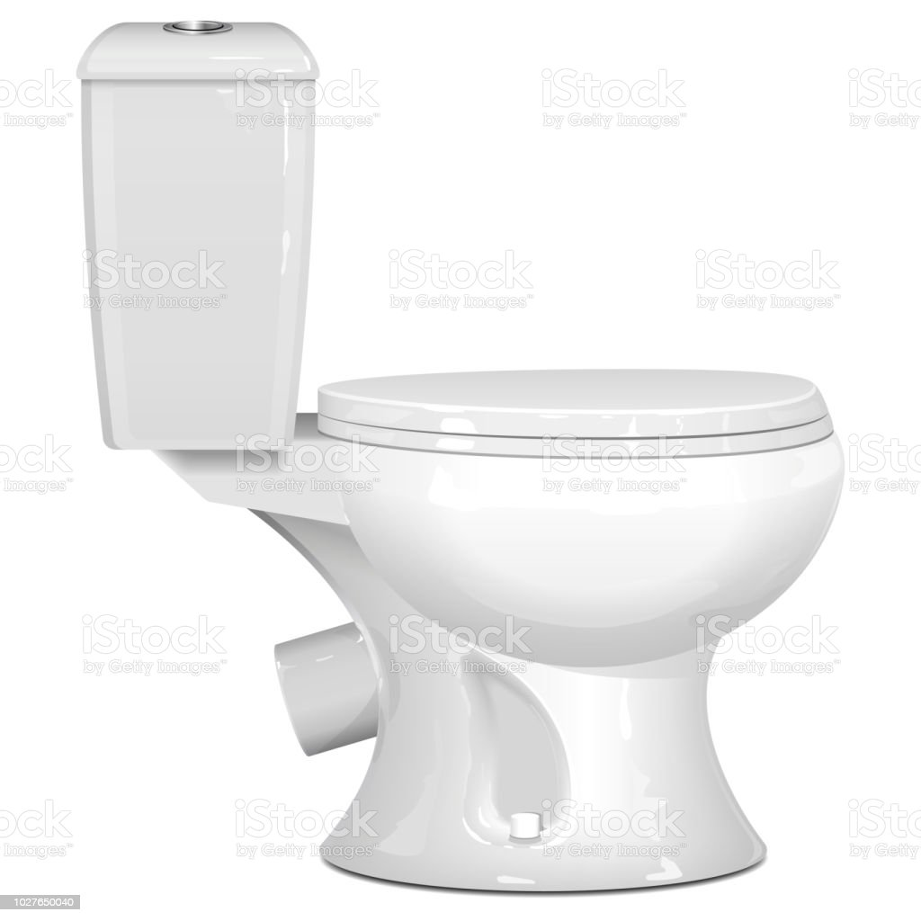 Vector White Toilet Bowl Stock Vector Art & More Images of Bathroom ...
