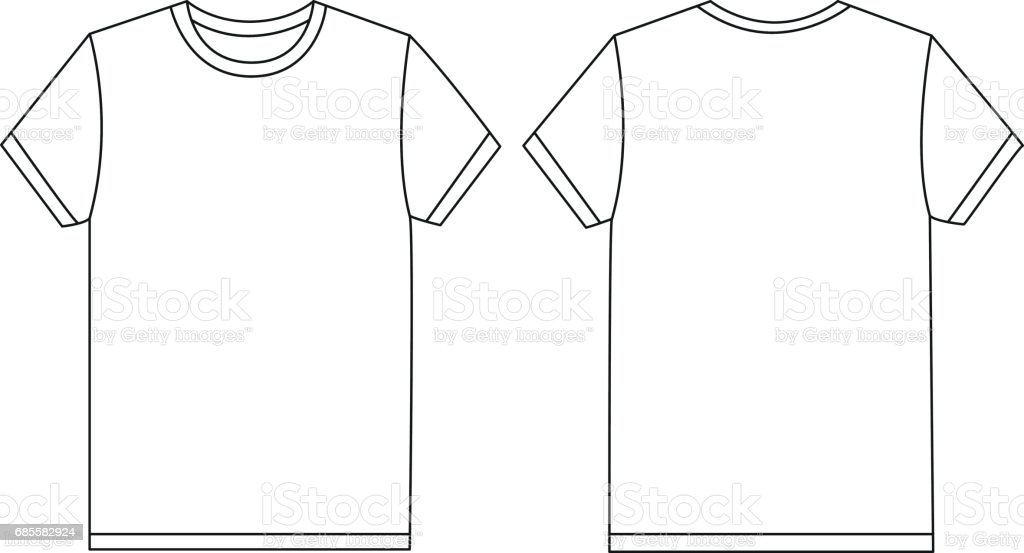 Vector white t-shirt template mockup vector art illustration