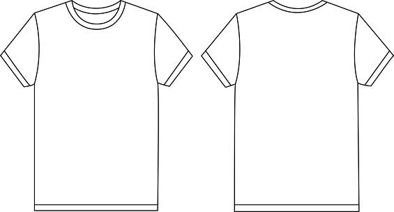 Vector White Tshirt Template Mockup Stock Illustration