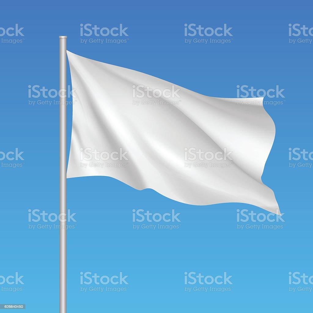 Flag Template | Vector White Waving Flag Template Stock Vektor Art Und Mehr Bilder