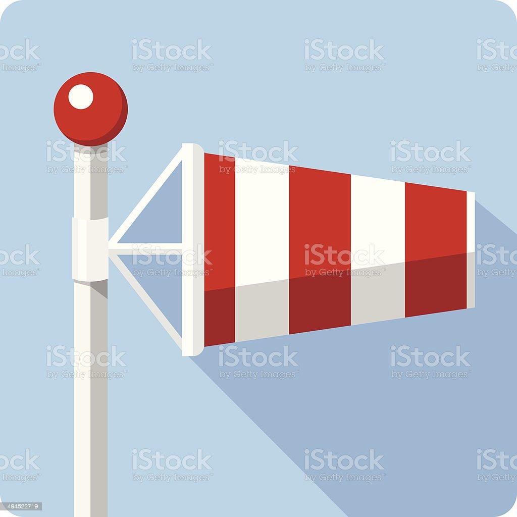Vetor de vento meia-vento manga - ilustração de arte em vetor