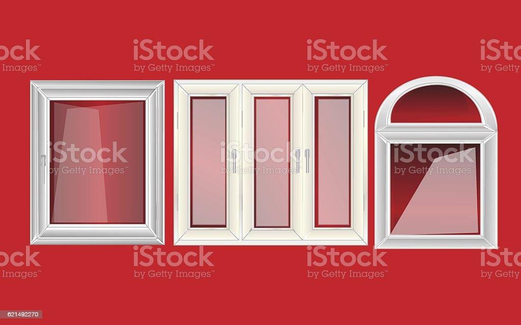 vector windows plastic vector windows plastic – cliparts vectoriels et plus d'images de affaires finance et industrie libre de droits