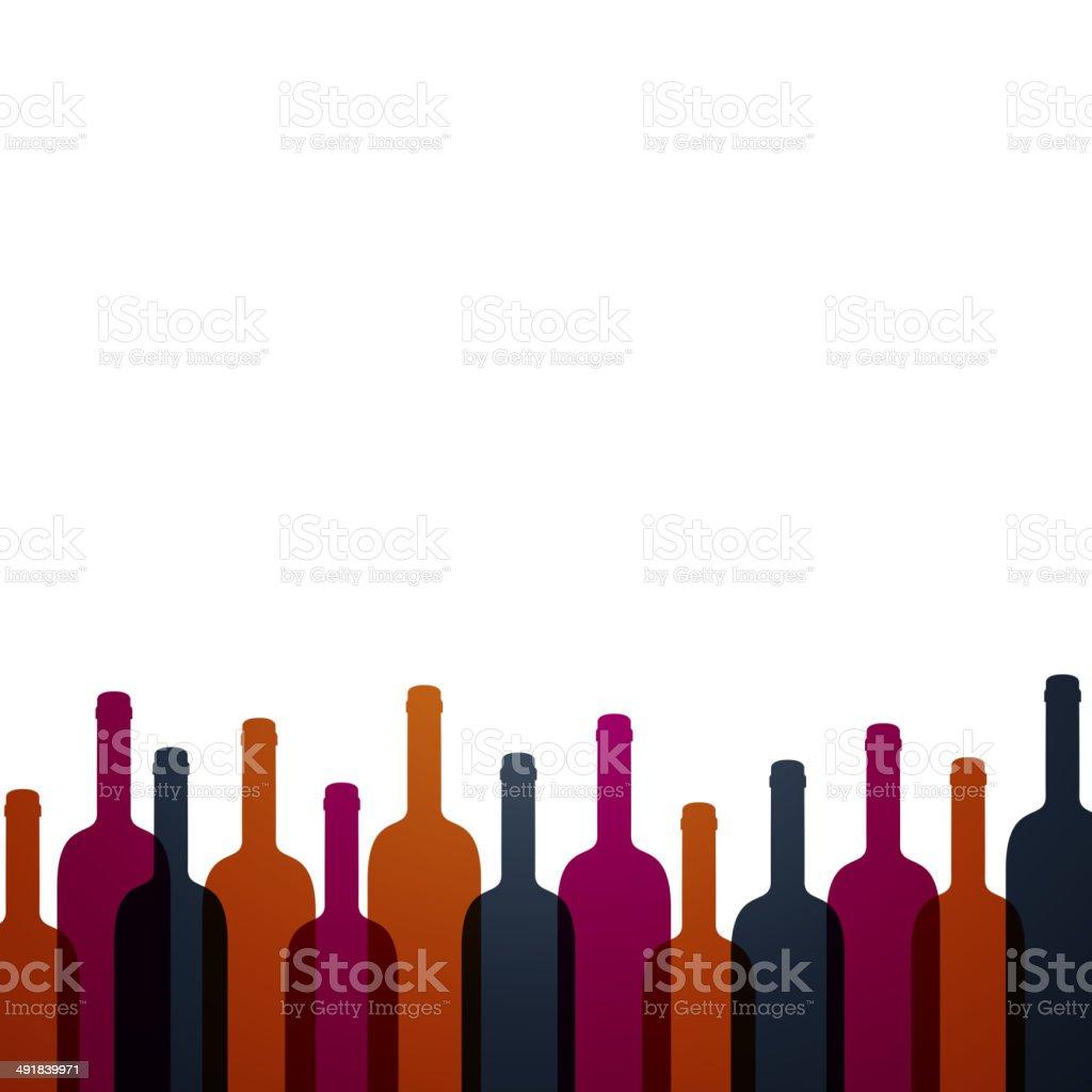 Vector Wine Background vector art illustration