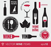 Vector wine items and logo's
