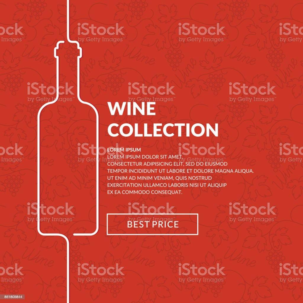 Vektor Wein Liste Vektor Illustration 851805844   iStock