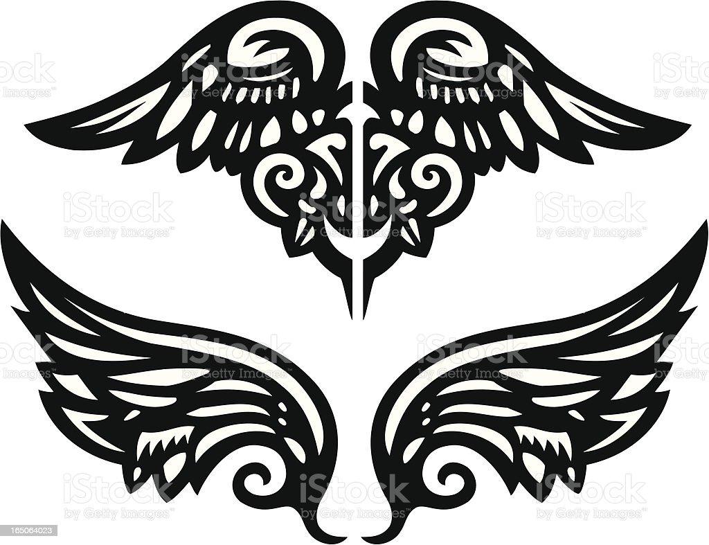 Vector Wings 1 vector art illustration