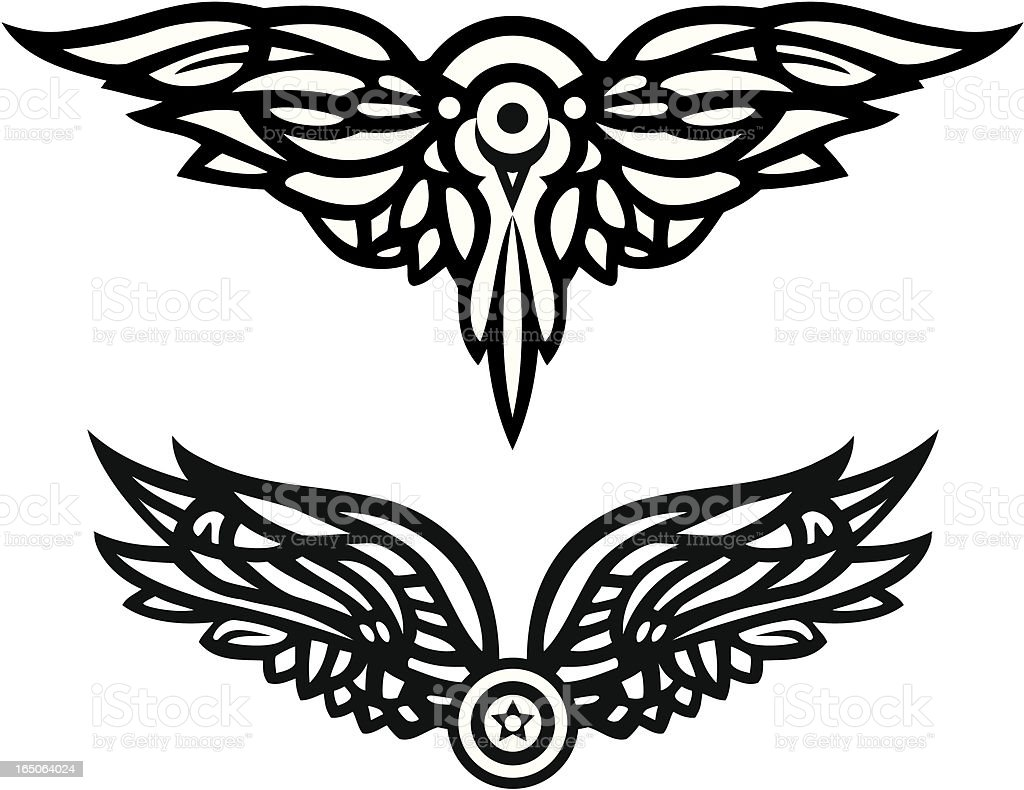 Vector Wings 2 royalty-free stock vector art