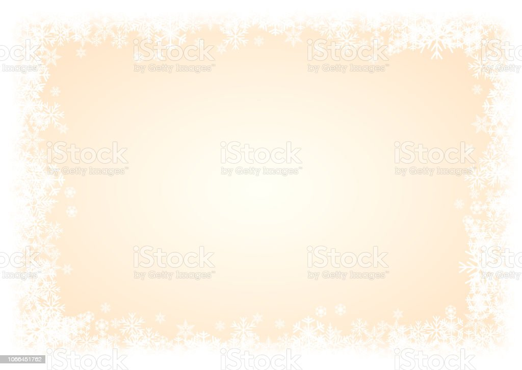378c53a3f917 Vector Winter Background. A cold Christmas. Frame made of snowfall and ice  crystals royalty