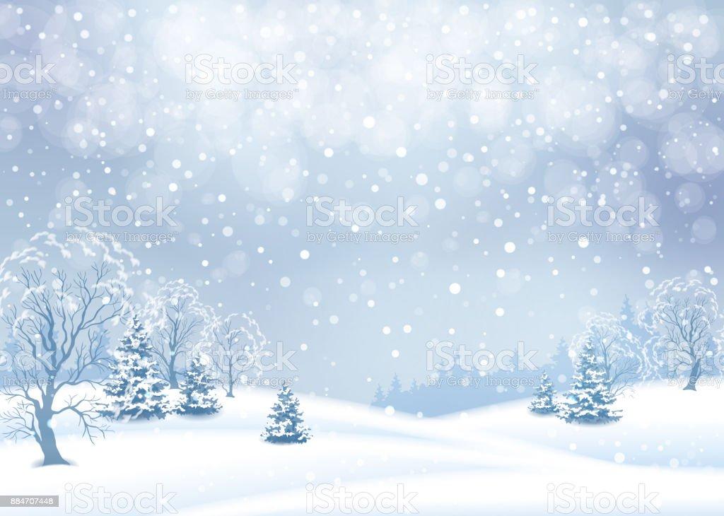 Vektor Winterlandschaft – Vektorgrafik