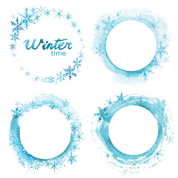 vector winter offer on white background. hand drawn watercolor set. - 冬点のイラスト素材/クリップアート素材/マンガ素材/アイコン素材