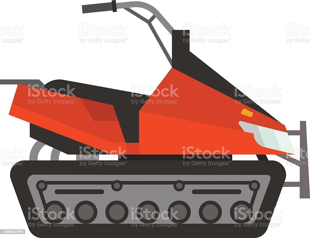 Vector winter snow motorcycle royalty-free vector winter snow motorcycle stock vector art & more images of activity