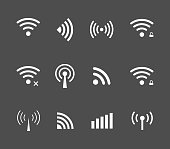 Vector wireless and wifi icon for remote access and communication via radio waves. remote access icon. Wireless label. Wi-Fi icon, Wi-Fi pictograph, Wi-Fi web icon, Wi-Fi icon vector