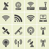 Vector  wireless icons set