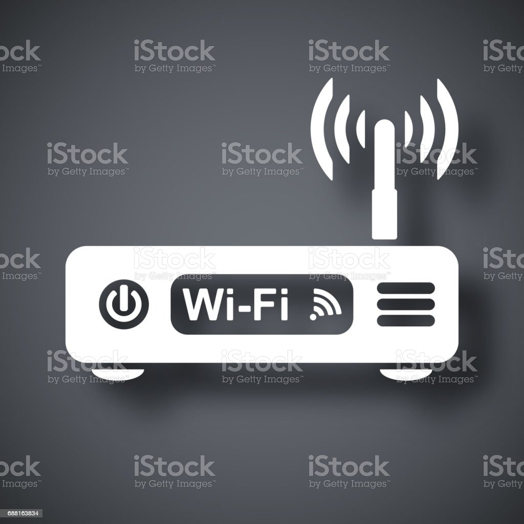 Vector wireless router icon vector art illustration