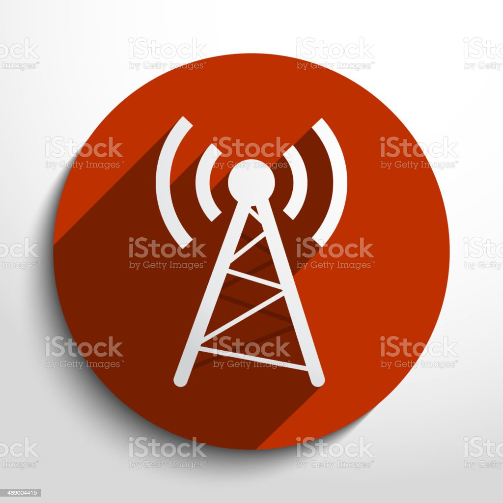 Vector wireless web icon vector art illustration