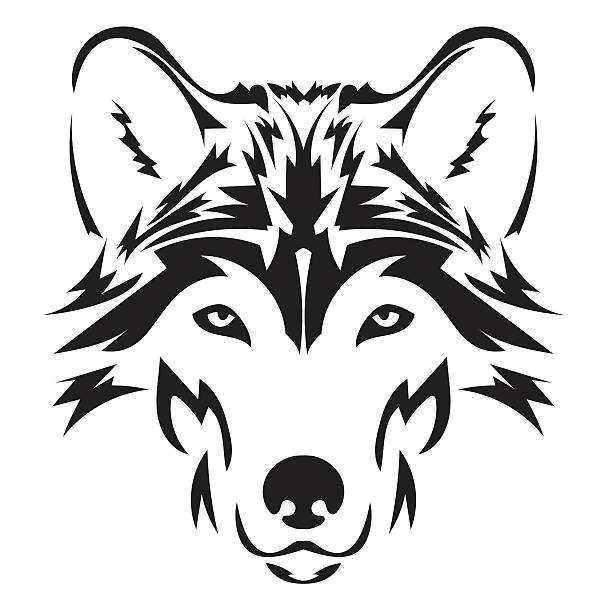 Royalty Free Wolf Face Clip Art, Vector Images ...