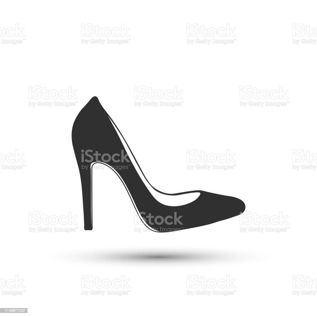 Vector Frau Schuhikone High Heels Icon Isoliert Auf Weißem