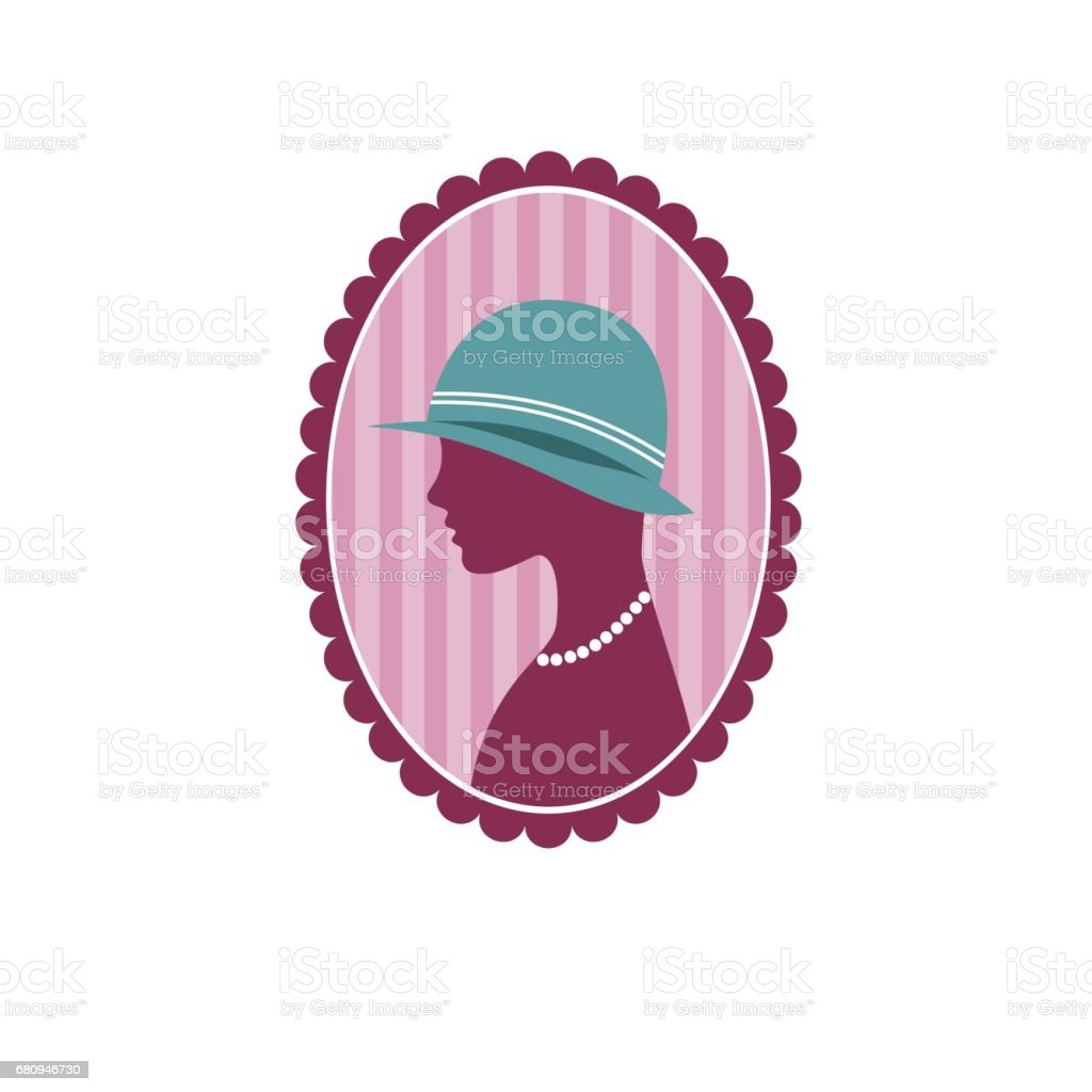 Vector woman with hat, fashion concept royalty-free vector woman with hat fashion concept stock vector art & more images of abstract