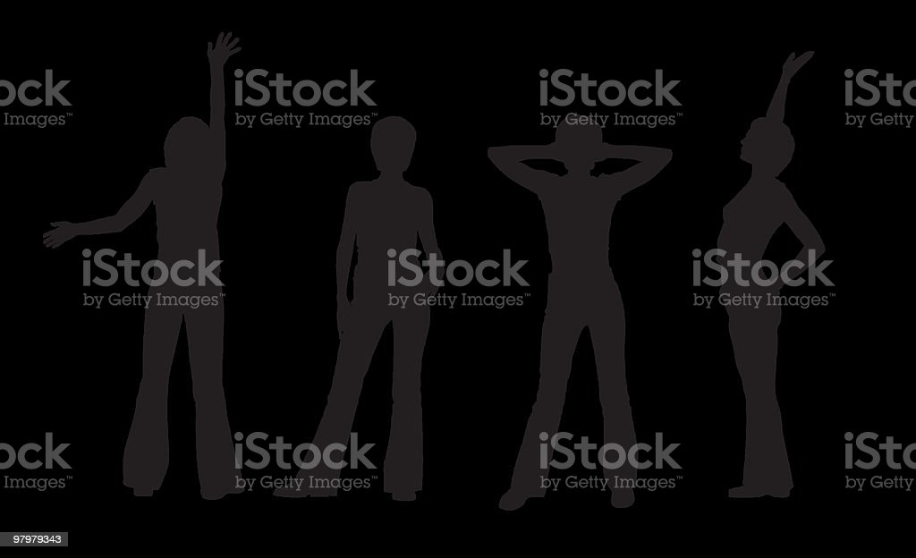 vector woman's silhouettes royalty-free vector womans silhouettes stock vector art & more images of activity