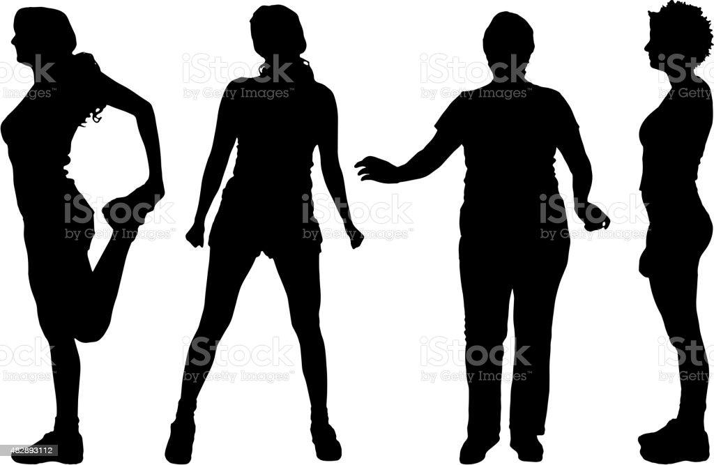Vector Women Silhouette Stock Vector Art More Images Of 2015
