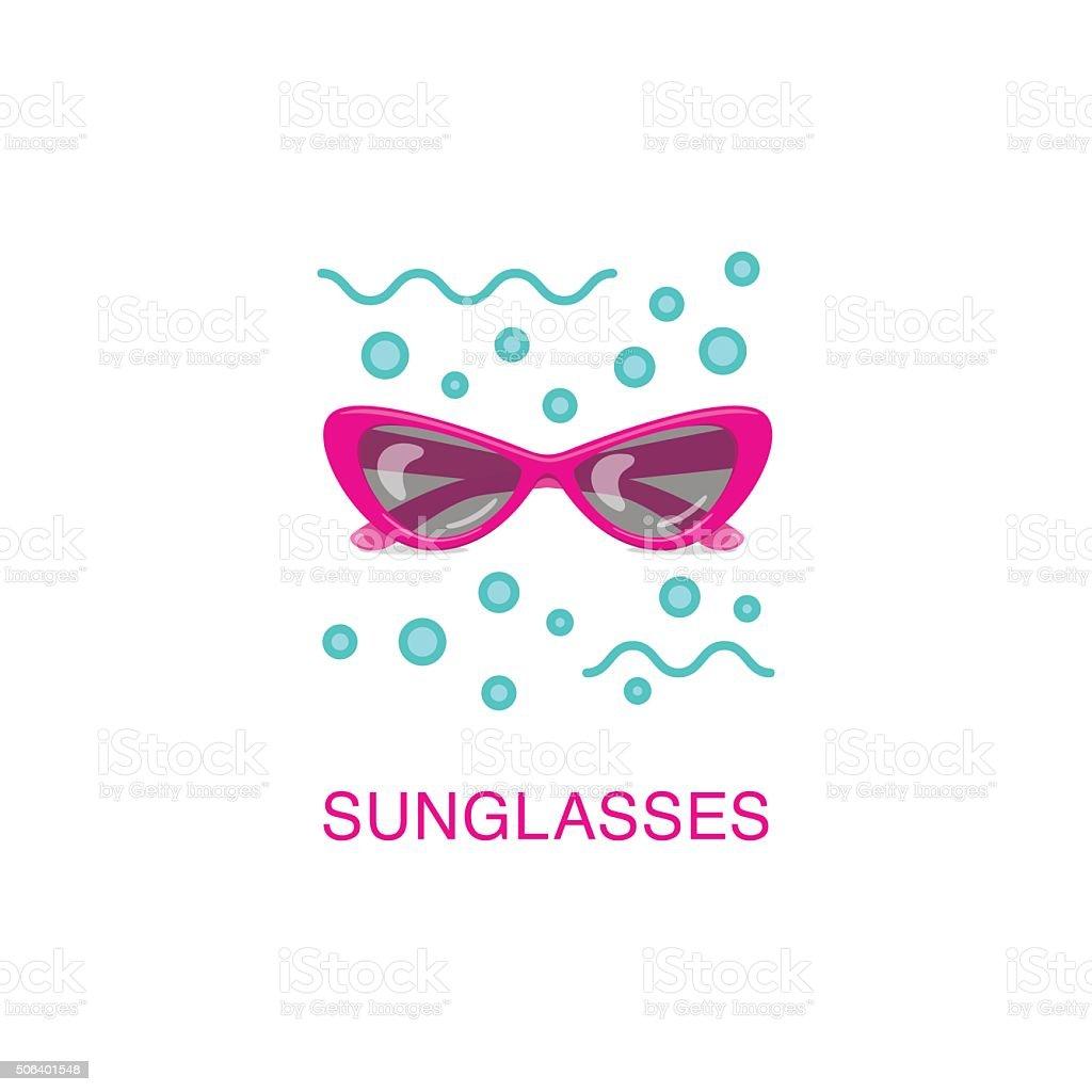 Vector women sunglasses. vector art illustration