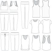 Vector Women's wear templates