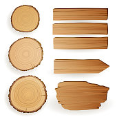 Vector Wood Elements