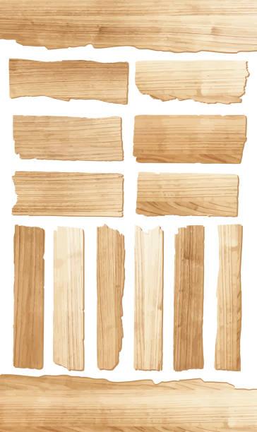 deska z drewna wektorowego - deska stock illustrations