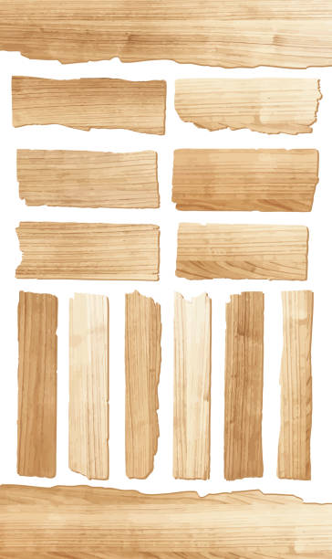 vector wood plank - wood texture stock illustrations