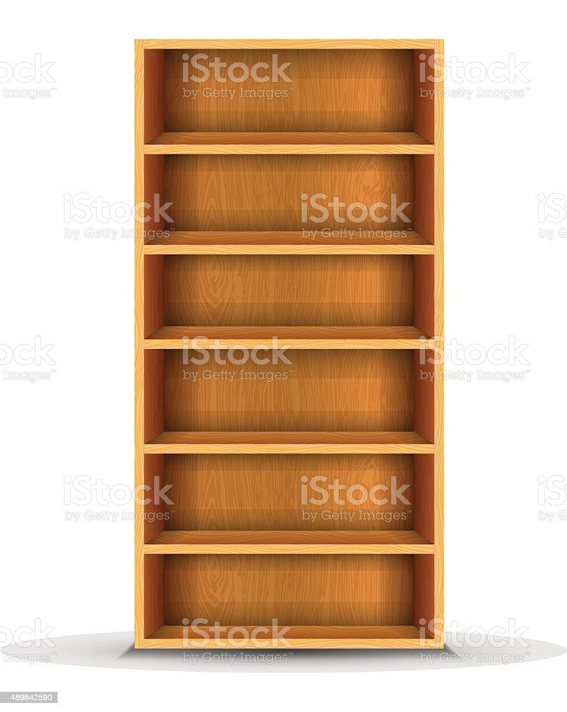 vector wood shelf vector art illustration