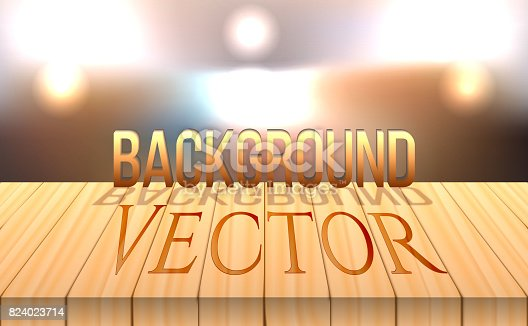 641254964 istock photo vector wood table top on bokeh abstract background 824023714