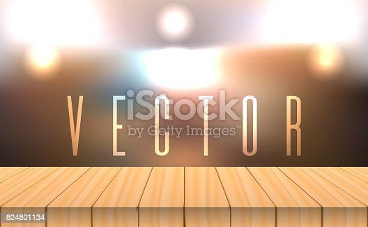 641254964 istock photo vector wood table top on bokeh abstract background 824801134