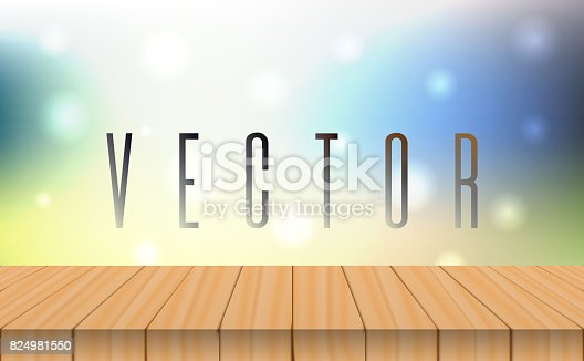 641254964 istock photo vector wood table top on bokeh abstract light background 824981550