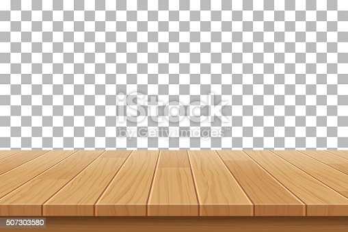 Vector Wood Table Top On Isolated Background Stock Vector