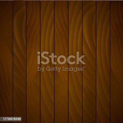 istock Vector wood texture. Plank background 1278828339