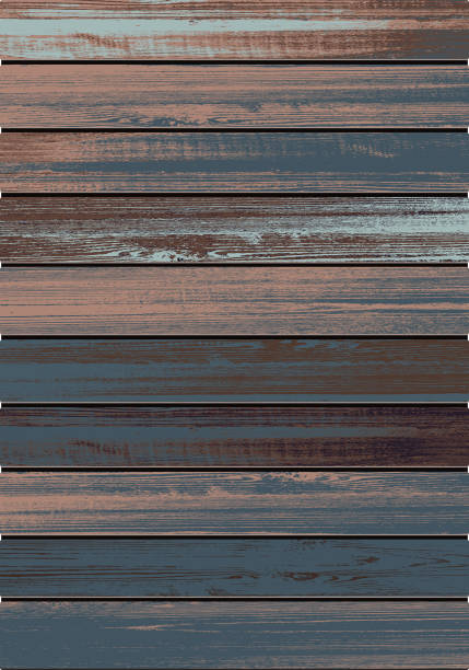 illustrazioni stock, clip art, cartoni animati e icone di tendenza di vector  wood  textured  background - tavolo legno