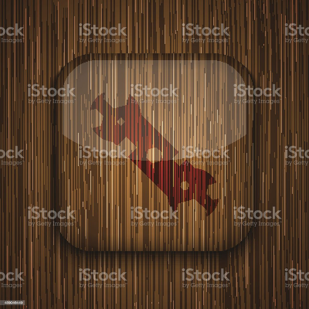 Vector wooden app icon. Eps10 royalty-free stock vector art