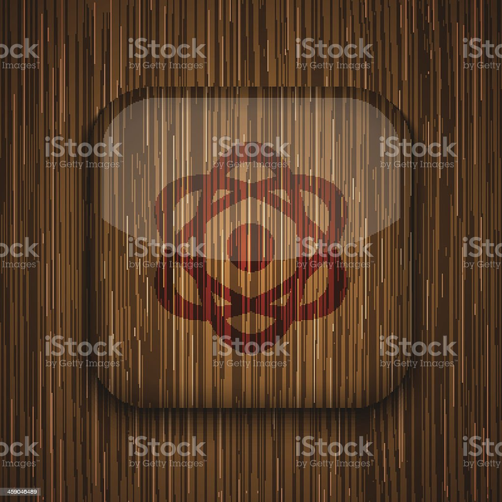 Vector wooden app icon. Eps10 royalty-free vector wooden app icon eps10 stock vector art & more images of alertness