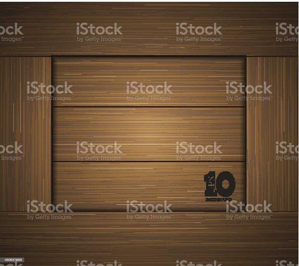 Vector wooden background . Eps10 vector art illustration