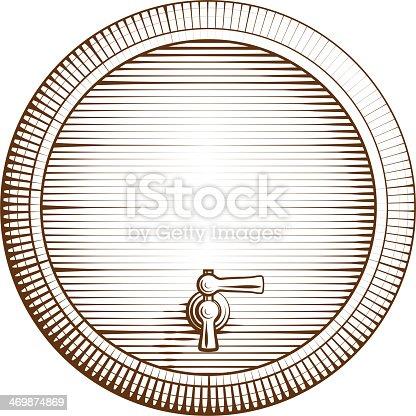 istock Vector wooden barrel 469874869