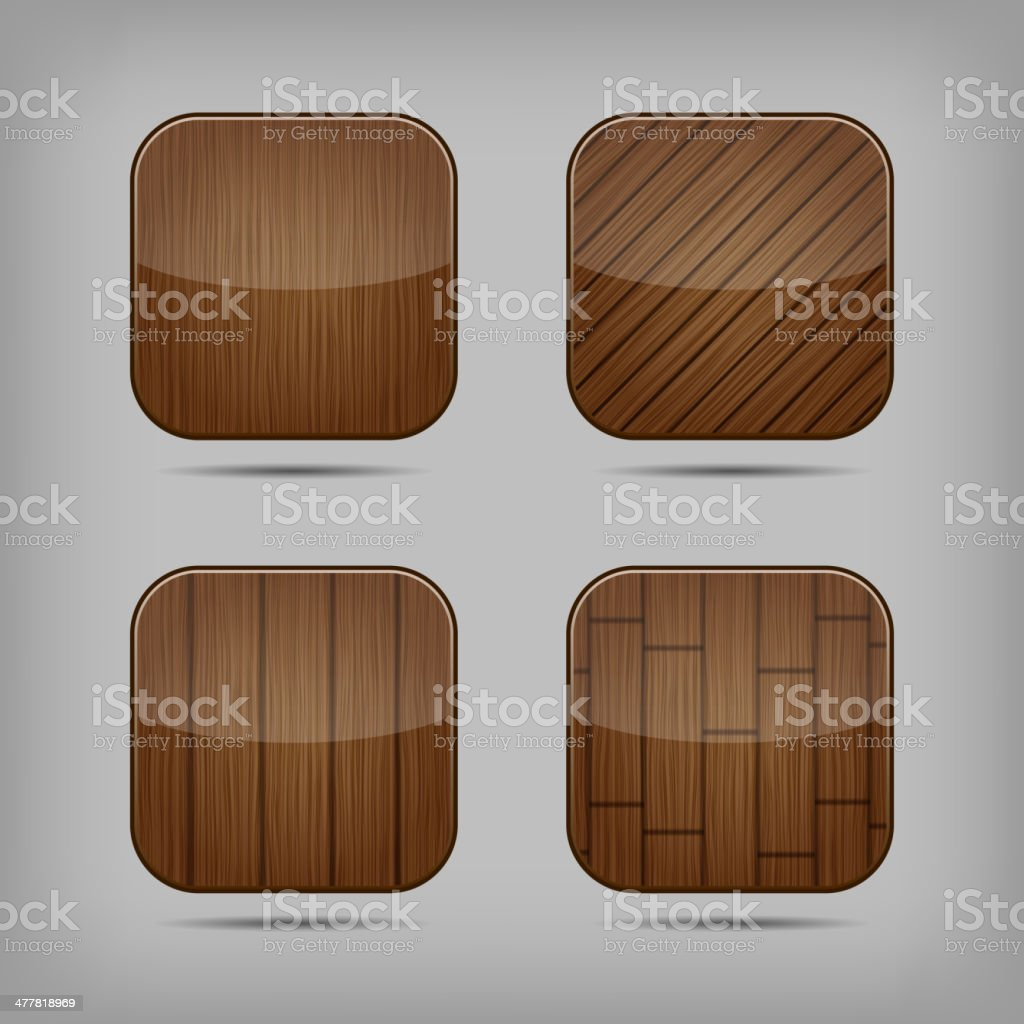 Vector wooden buttons set royalty-free vector wooden buttons set stock vector art & more images of brown