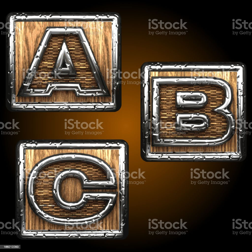 Vector wooden figures on box royalty-free vector wooden figures on box stock vector art & more images of alphabet
