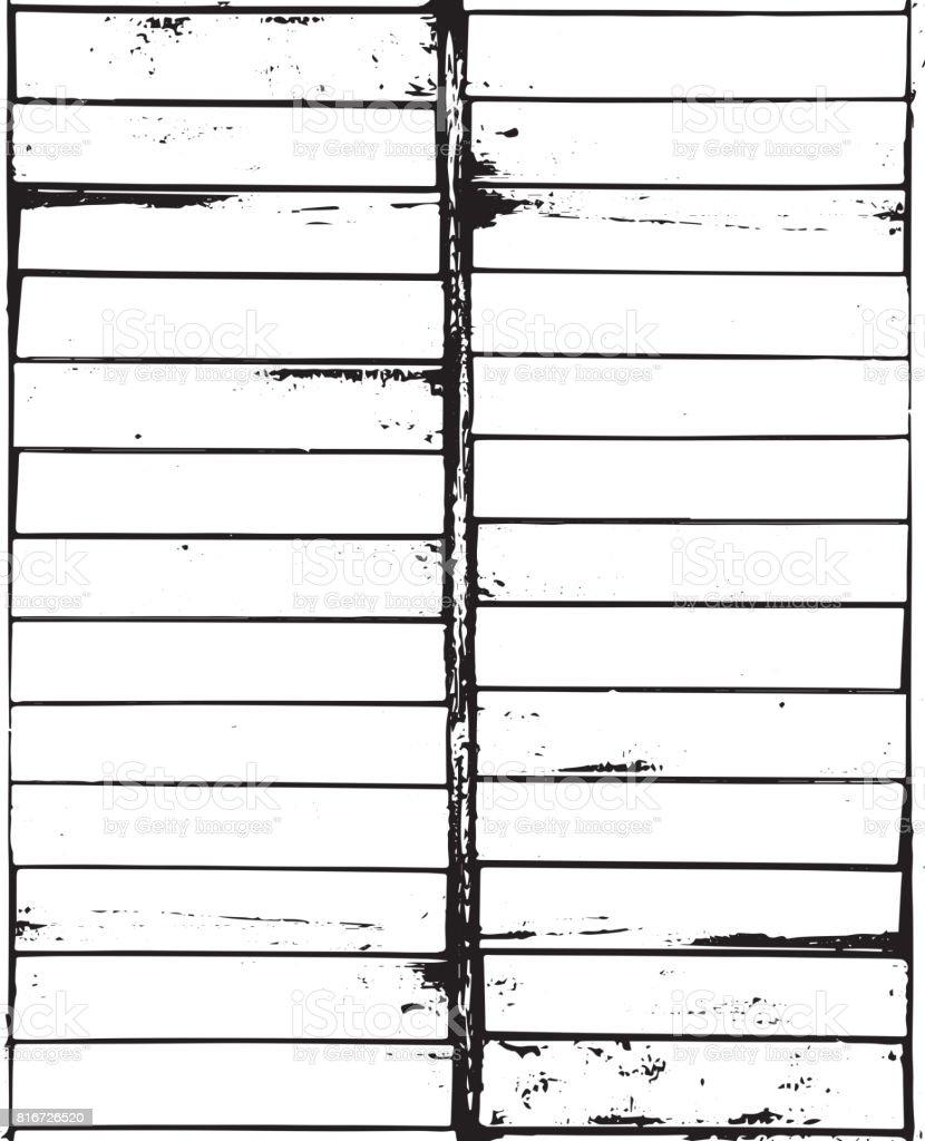 Vector wooden grain planks texture background. Distress wooden overlay texture vector art illustration