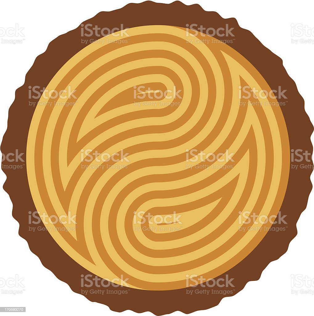 vector wooden log cut royalty-free stock vector art
