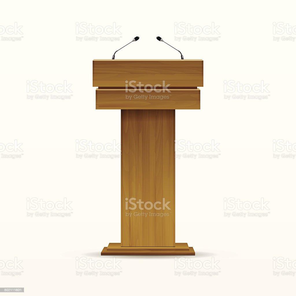 Estrade En Bois Occasion vector en bois podium tribune estrade stand isolé sur blanc