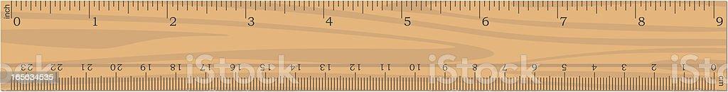 Vector Wooden Ruler vector art illustration
