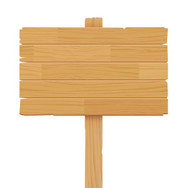ベクトル木製のサインに隔てられた白の背景 - 看板点のイラスト素材/クリップアート素材/マンガ素材/アイコン素材