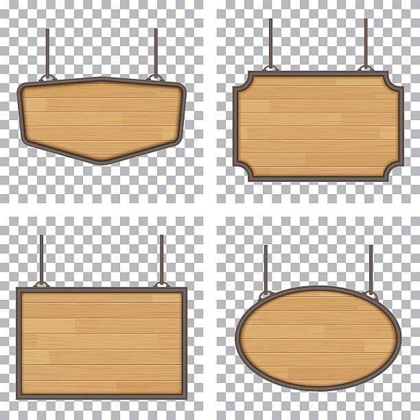 bildbanksillustrationer, clip art samt tecknat material och ikoner med vector wooden sign isolated on white background - wood sign isolated